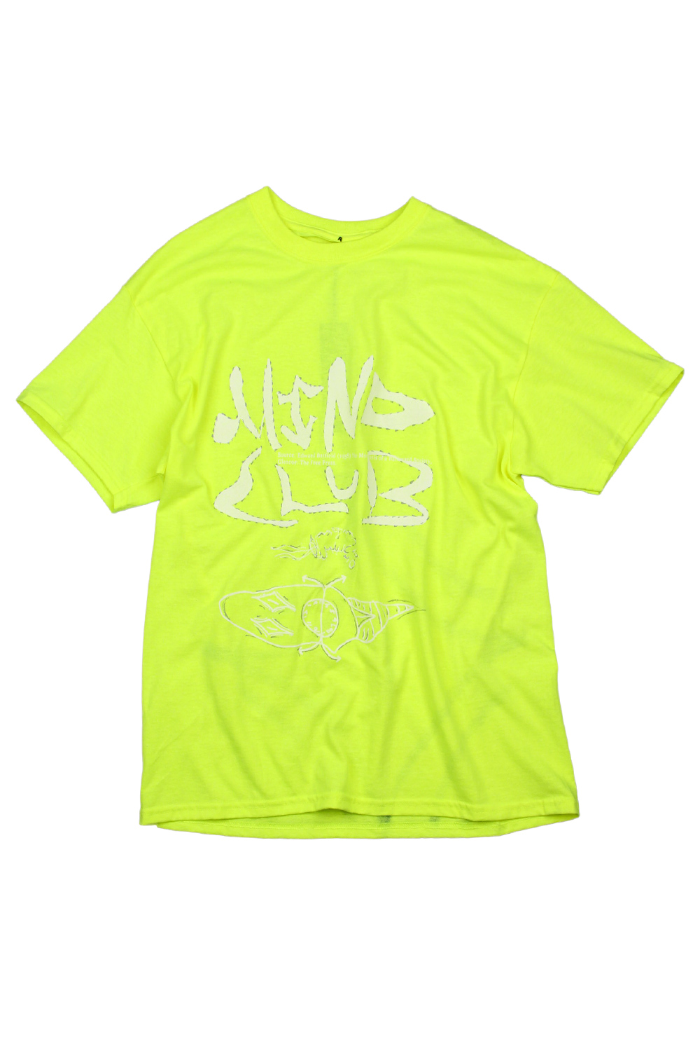 [MIND CLUB] MIND CLUB T-SHIRT white/neon